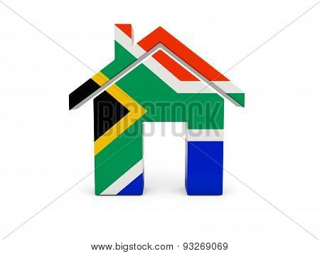 Home With Flag Of South Africa