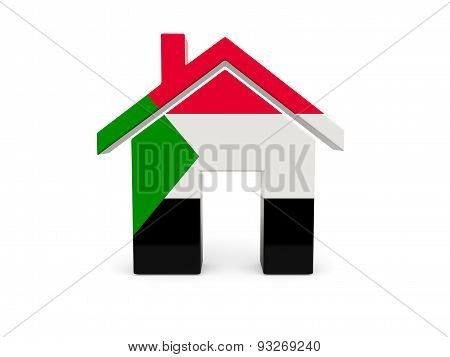 Home With Flag Of Sudan