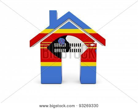 Home With Flag Of Swaziland