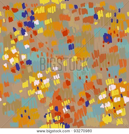 Seamless abstract blob brush color pattern. Vector illustration