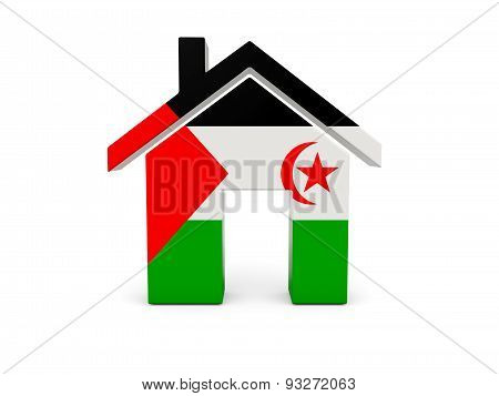 Home With Flag Of Western Sahara