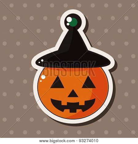 Halloween Pumpkin Theme Elements