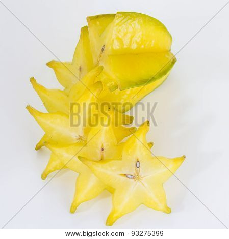 Star Apple On White Background.
