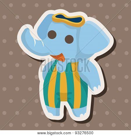 Animal Elephant Doing Sports Cartoon Theme Elements