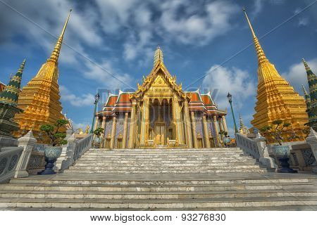 Golden Pavilion In Wat Phra Kaew