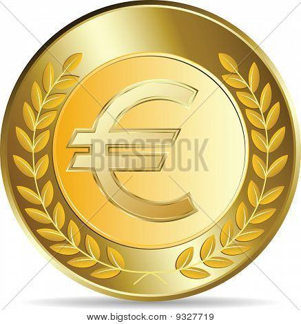 Euro Coins Vector Illustration