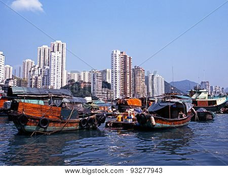 Aberdeen Harbour, Hong Kong.