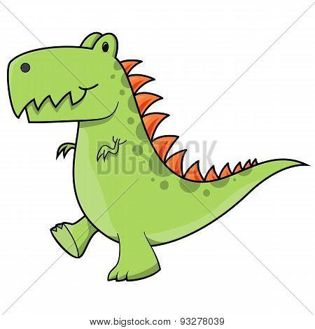 Tyrannosaurus dinosaur illustration