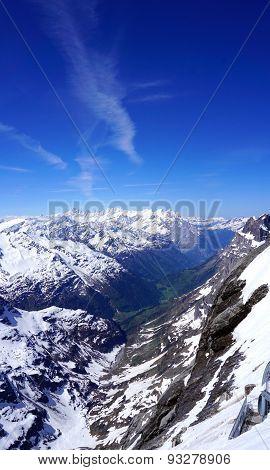 Scene Of Snow Mountains Valley Titlis