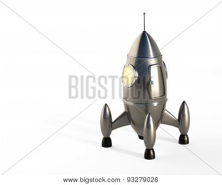 Cartoon Space Rocket