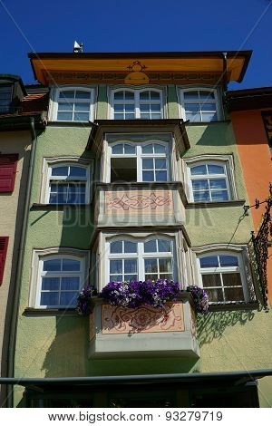 Architectural Detail Of An Old House In Rottweil