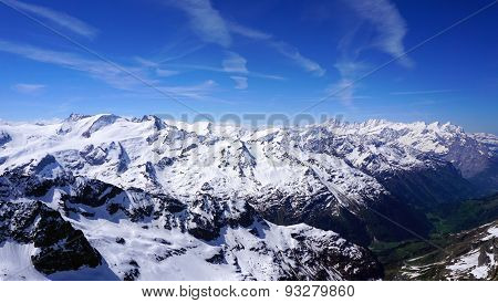 Viewpoints Of Titlis Snow Mountains