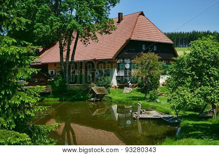 Beautiful Farmhouse With Pond In The Black Forest