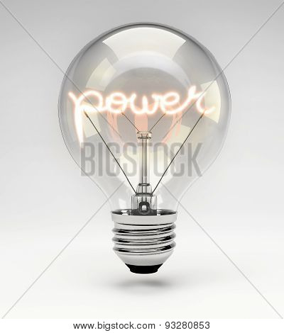 Conceptual Light Bulb (set) - Power