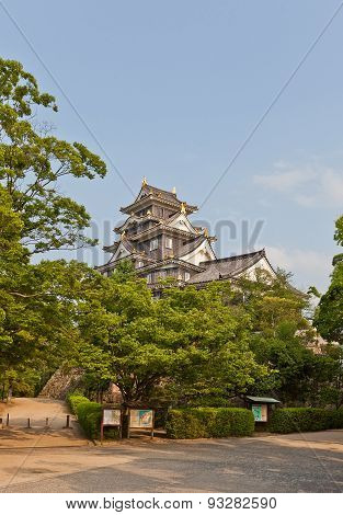 Main Keep Of Okayama Castle, Japan. National Historic Site