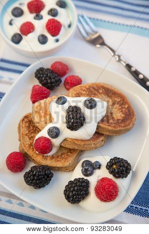 Home made Pancakes with fresh berries