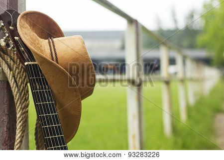 Cowboy Hat And Guitar