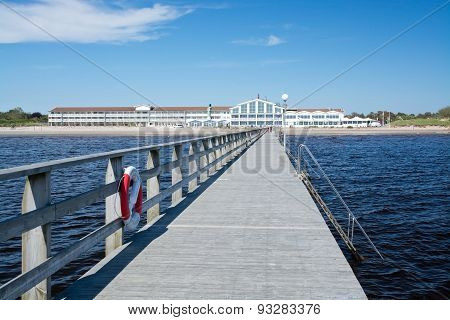Strandbaden Falkenberg wooden pier