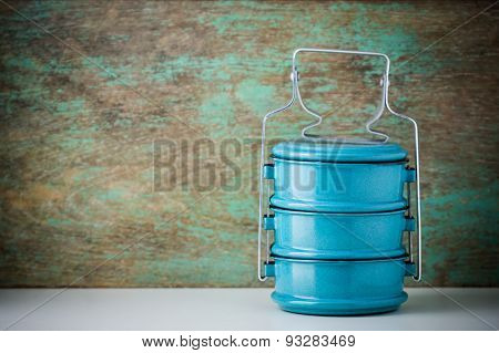 Metal Tiffin, Thai Food Carrier