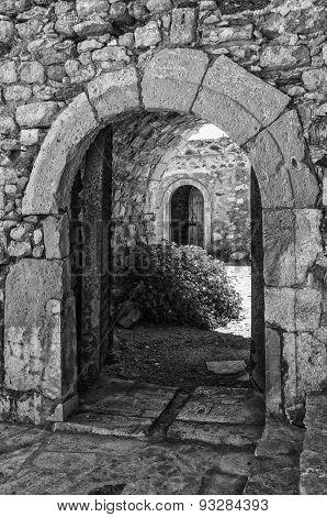 Archways At Kales Fort In Lerapetra