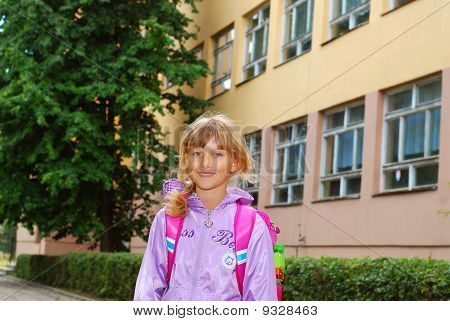 Schoolgirl After Lessons