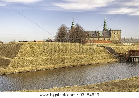 Kronborg Castle And Moat