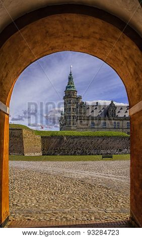 Kronborg Castle Through The Archway