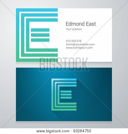 Letter E Business Card Template