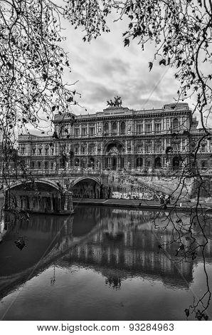 Rome Palazzo Di Giustizia Monochrome Edit