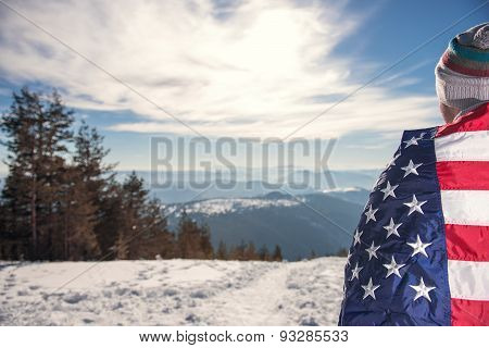 Covered With Usa Flag