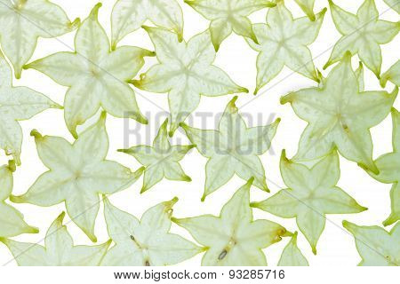 Texture Design With Star Fruit.