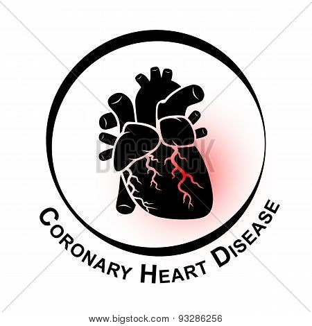 Coronary Heart Disease Symbol ( Ischemic heart disease Myocardial infraction )