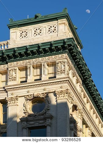 Architectural Detail Of Beaux-arts Style Chelsea Building, New York