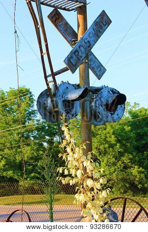 Rustic Railroad Sign