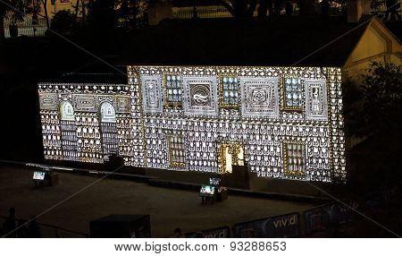 Cadmans Cottage In Lights For Vivid Sydney