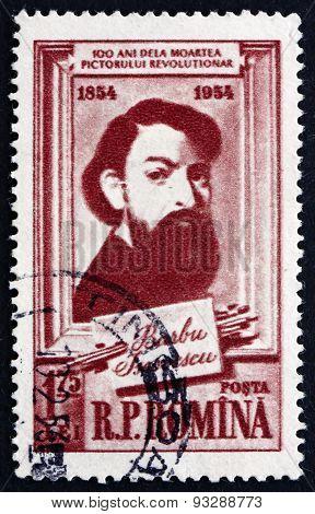 Postage Stamp Romania 1954 Barbu Iscovescu, Painter