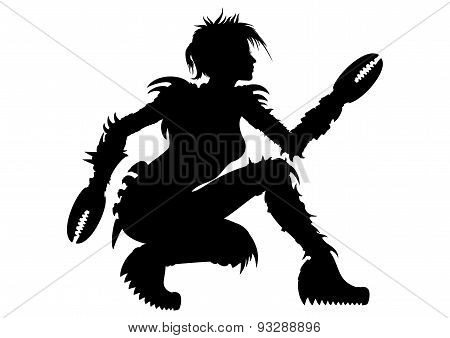 Woman Crab Silhouette