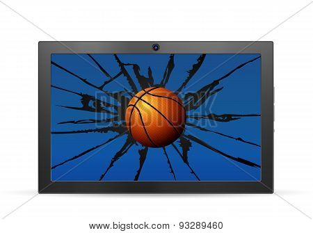 Cracked Tablet Basketball