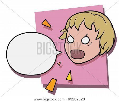Angry Shouting Girl