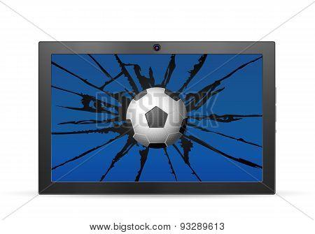Cracked Tablet Soccer