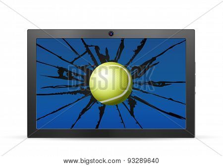Cracked Tablet Tennis