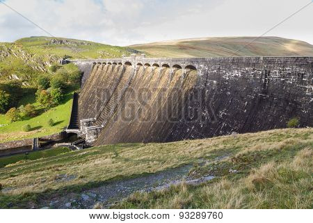 The Claerwen Dam, From Above, Landscape