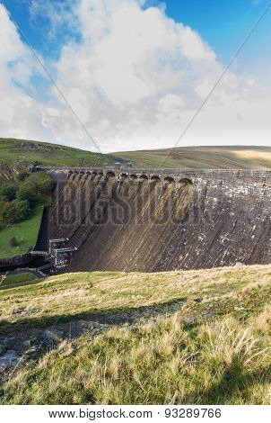 The Claerwen Dam, From Above, Portrait