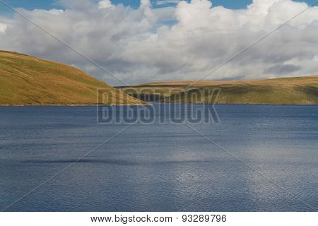 The Claerwen Reservoir, On Edge Of Mid-wales Wilderness.