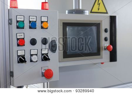 Control Panel Of Assembly Line