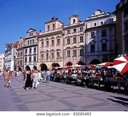 Pavement cafes, Prague.