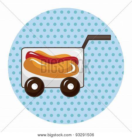 Amusement Park Food Cart Theme Elements