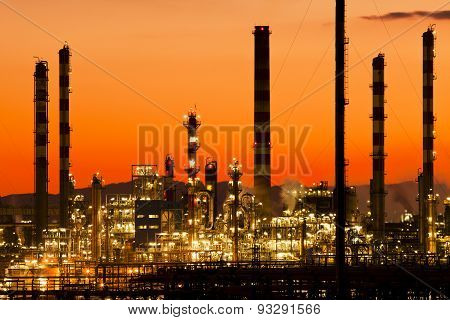 oil industry in Tarragona Spain Industry and factories backgrounds