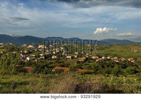 Village in the wine making region of Melnik