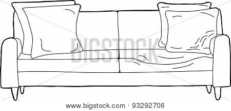 Pressed In Outilned Couch